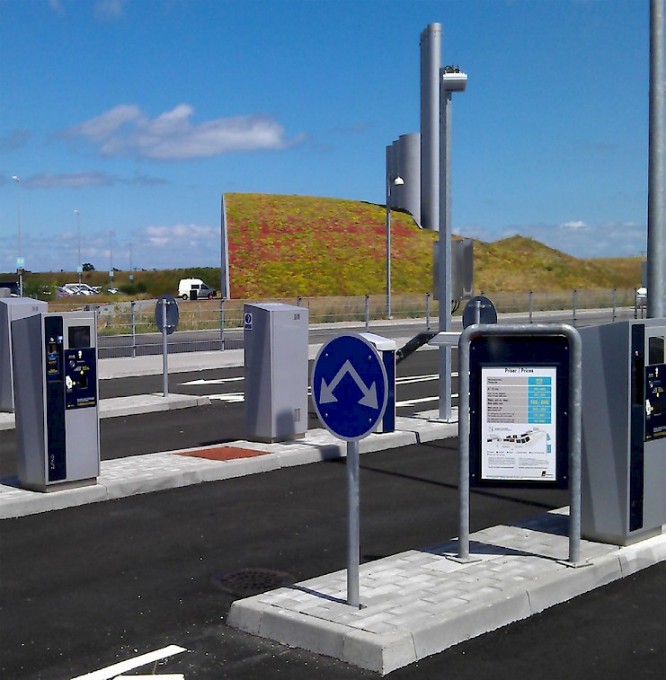 Copenhagen Airport HUB Parking ZEAG installations