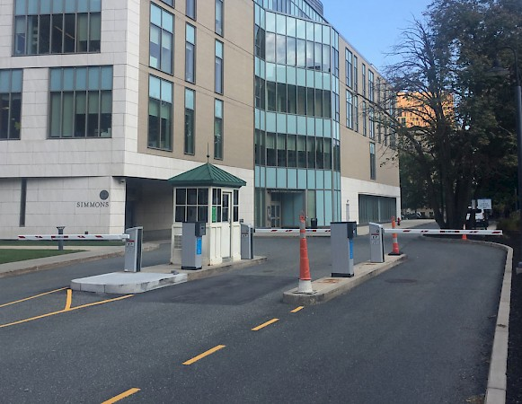 Boston Simmons College HUB Parking peripherals & barriers