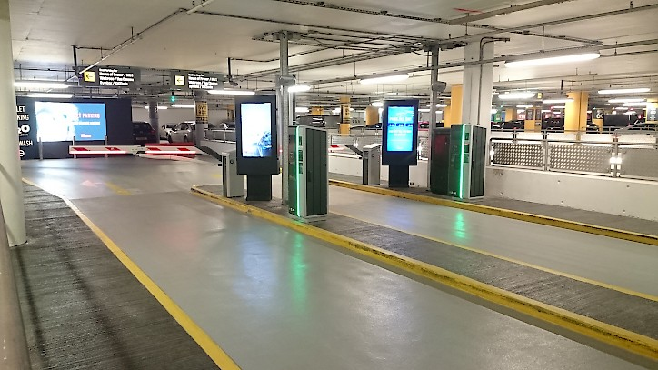 Westfield peripherals and barriers HUB Parking