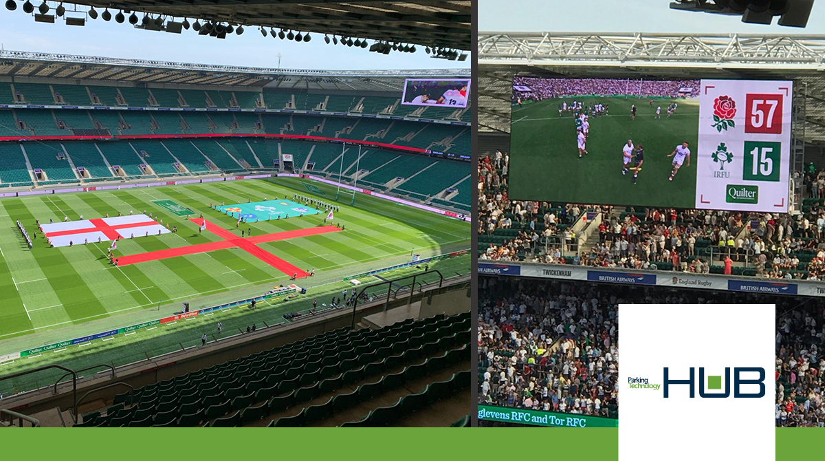 HUB Parking UK brings customers to England VS Ireland rugby match in Twickenham, UK for great team building
