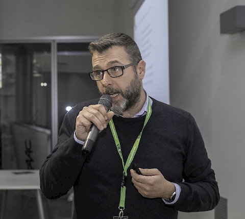 Simone Sandri FP, head of R&D software platform at HUB Parking Technology headquarter in Italy