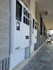 Jupiter automated paystations are in custom color all white at Astoria Chioggia beach resort