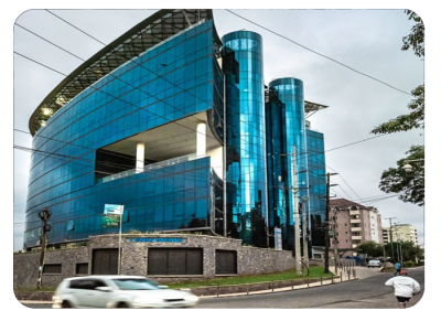 I&M bank in Nairobi includes a dedicated parking area with HUB equipment