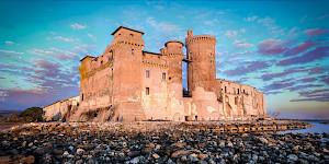 Castello di santa severa panoramic view
